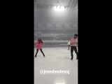instagram - Евгения Мкдведева репетиция THIN-Q ICE FANTASIA