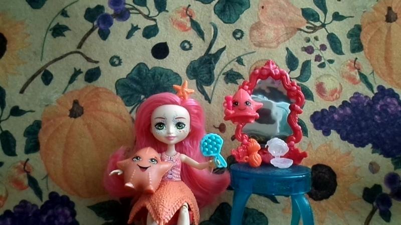 Обзор на куклу Энчантималс*Старлинг Морсказвёздная и её зверюшки Морские звёздочки-Enchantimals*Starling Starfish