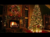 Classic Christmas Music with a Fireplace and Beautiful Background (2017)
