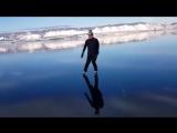 Прозрачный лед Байкала