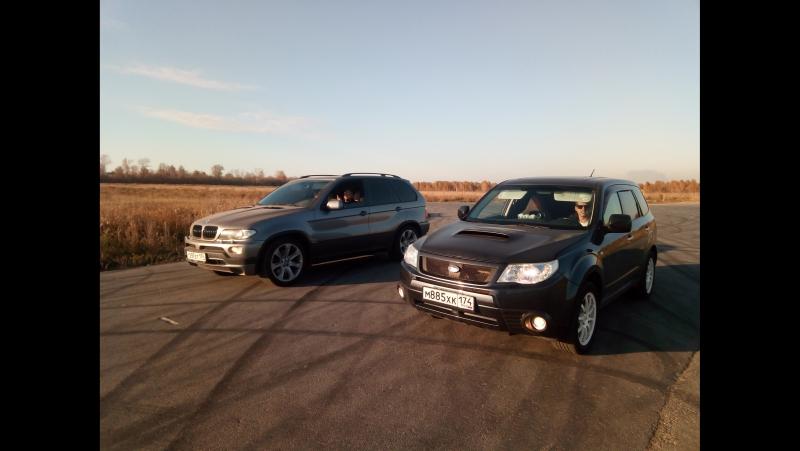 Subaru Forester 360 л.с.(2,5 - Ej 255) vs BMW 360 л.с. (4.8)