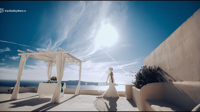 Свадьба на Санторини на площадке Andromeda Villas Екатерины и Кирилла