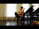 12 - Габдушев Дмитрий - И.С.Бах - Аллеманда из сюиты № 1 для лютни ми минор.