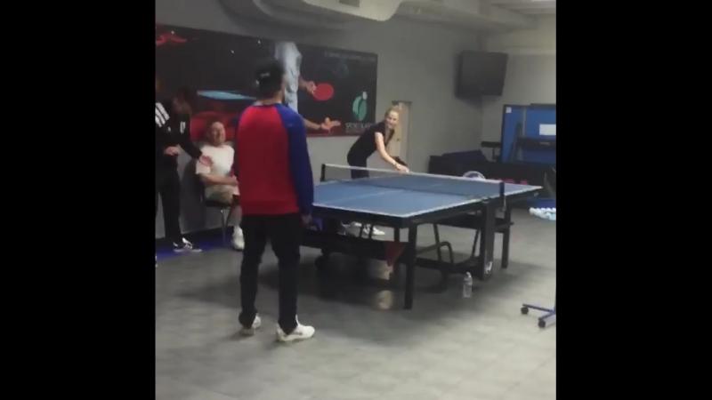 IG | anastasiarybka_gc When u take a break from music u become table tennis athlete 🏓 🤪 Happy birthday 🎂 @justinbieber