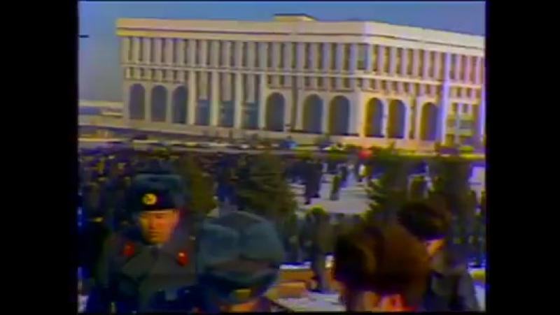 Алматы 1986 жылғы желтоқсан оқиғасында. Қазақ қызы...