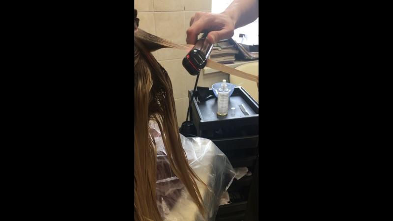Салон» Силуэт плюс» Холодное востановлениеление волос. Мастер Самойлюкова Валентина