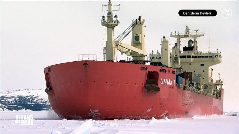 Denizlerin Devleri Buz Üstünde Maden Kargo Gemisi