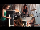 Van Halen - Right Now; piano, drum, guitar, bass cover by Sina