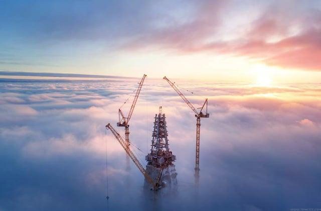 Лахта Центр - новая точка притяжения Петербурга