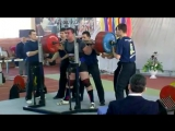 Александр Шепель приседает 415 кг в однослойной экипировке. Чемпионат Украины 2010 год