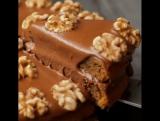 Шоколадный тортик с орехами
