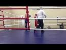 1 раунд, красный угол Никитин Артем, синий угол Цуркан Николай,финальный бой.