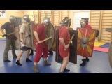 Римское фехтование - про атаку в ногу  Roman fencing - about the attack in the leg