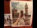 Алиэкспресс! КАРТИНА красками на холсте Девушка «Биг-Бэн» Обзор с Татьяной Пивкиной. (ч.16)