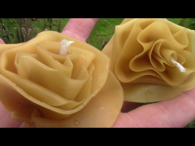 How To Make Beeswax Flowers Without A Mould (Candles Too!)