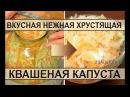 Вкусная квашеная капуста в банках Лучший рецепт домашней квашеной капусты в рассоле