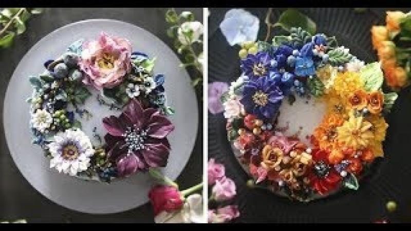 Buttercream Floral Cakes That Look Too Beautiful To Eat Muhammad Waqas