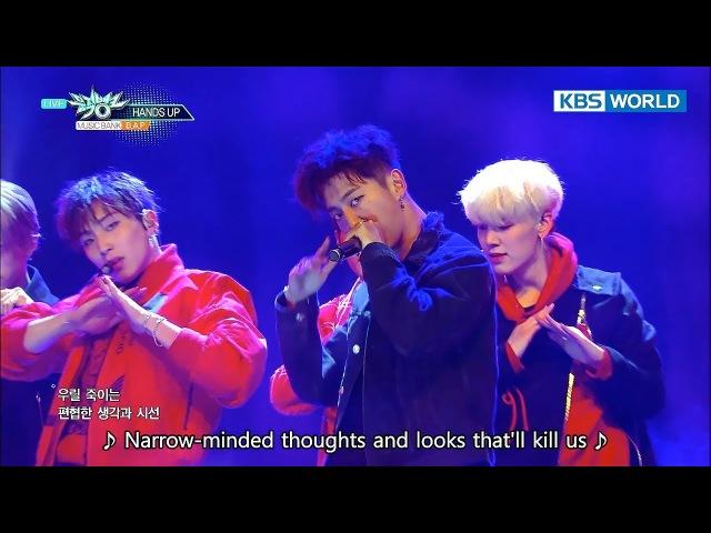 B A P MOONDANCE HANDS UP Music Bank COMEBACK 2017 12 15
