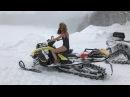 Снегоходы. Квадроциклы на гусеницах. Приколы. Обучение и тест в горах!