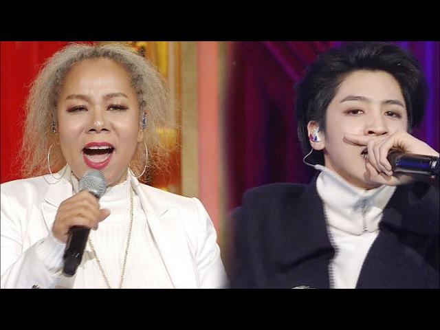 인순이, 새해를 맞이하는 특별 무대 '친구여 (feat. 우석)' @SBS 연기대상 2회 20171231