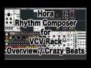 Hora Rhythm Composer for VCV Rack - Overview Crazy Beats