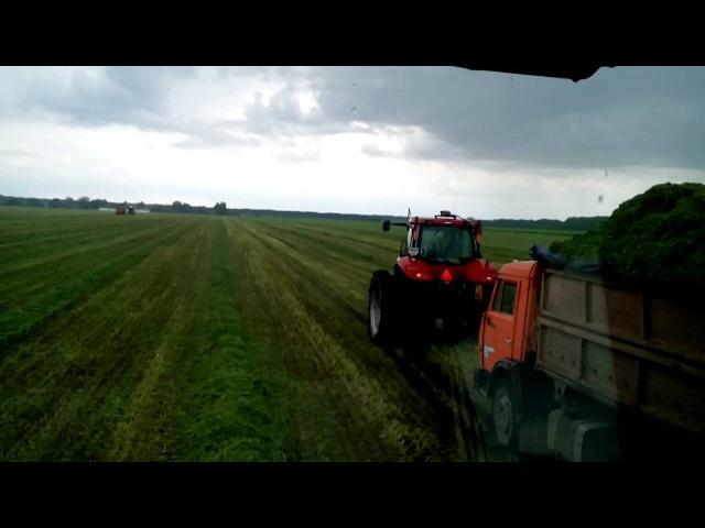 Яреськы Уборка сенажа в дождливую погоду 2016года
