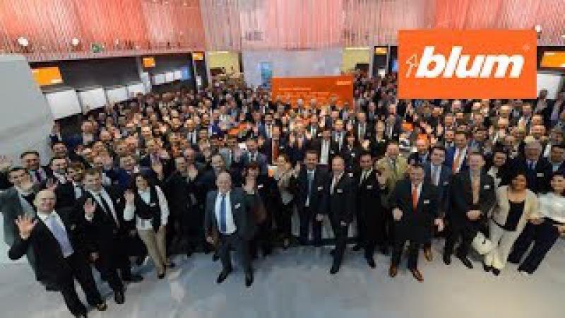 Стенд фирмы Blum на выставке interzum 2017 в г. Кёльн