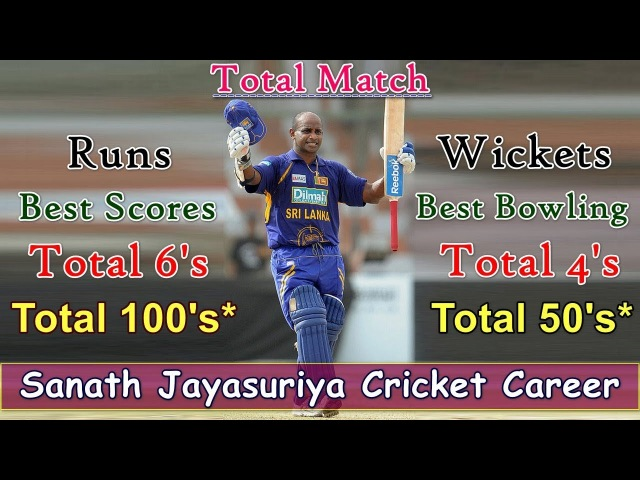 Sanath Jayasuriya Cricket Career Detail of ODI, Test, T20 and IPL || Master Blaster