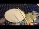 Checking and recutting bearing edges on a 70's ludwig tom SOUND FILE - Yourdrumsound