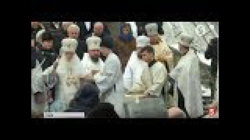 Патріарх Філарет освятив воду у Гідропарку включення