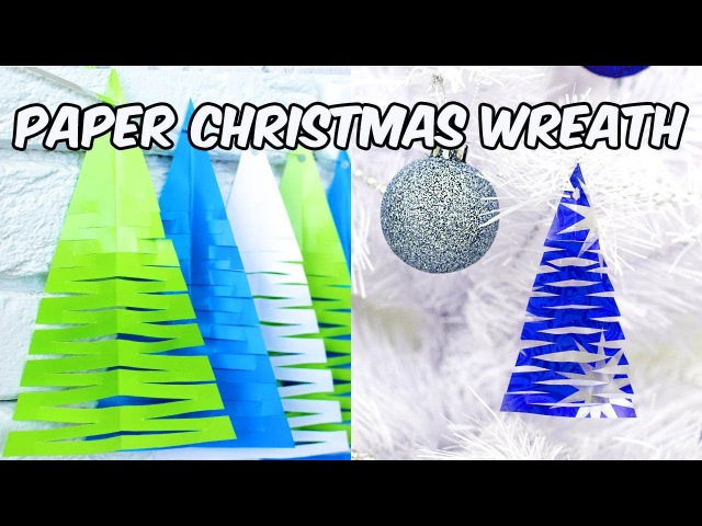 Paper Christmas Wreath Paper Crafts DIY Cristmas Decoration