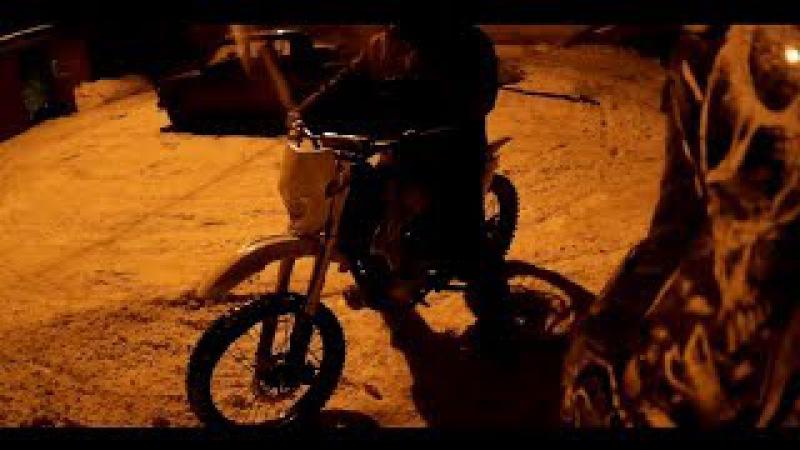 Kayo t2 250cc зимой, без шипов. тест экшн камеры.