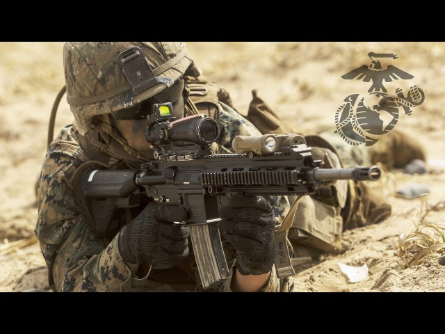 Marine Corps Preparing for Combat - US Marines Heavy Live Fire Assault Action Training