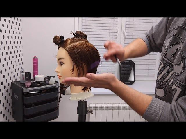 Текстурная удлиненная стрижка. Пошаговый видеоурок от Павла Охапкина