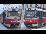 Встреча двух трамваев Tatra-t3 (МТТЧ) №3460 и Tatra-t3 (МТТА-2) №2311