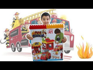 Ayhan Opens and Plays Fire Station Toy