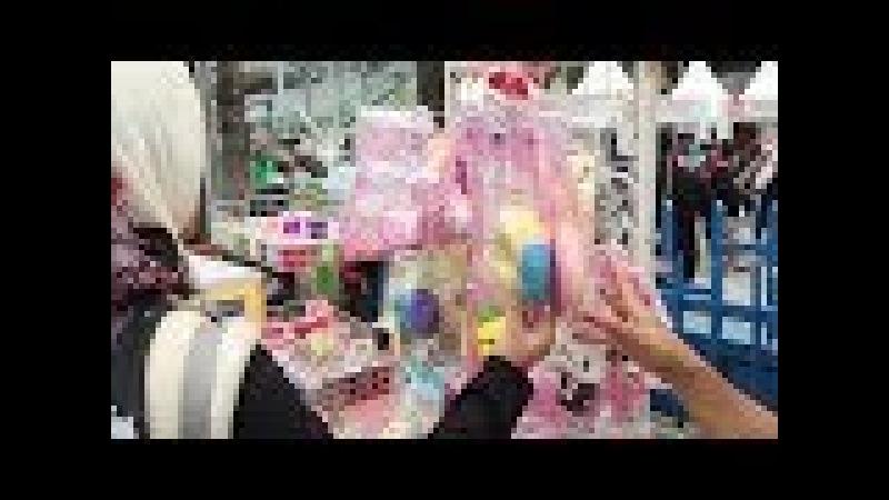 Beli Mainan Anak Squishy dan Slime Di Pedagang Mainan Pinggir Jalan CFD Sudirman