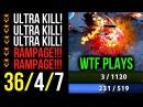 3HP UltraKill WTF Plays Double Rampage Shadow Fiend by Mindcontrol Dota2