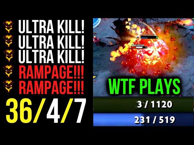 3HP UltraKill WTF Plays! Double Rampage Shadow Fiend by Mindcontrol Dota2