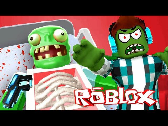 На меня НАПАЛИ ДИКИЕ ЗОМБИ в РОБЛОКС Сражался до конца ОТСТРЕЛИВАЮ Roblox Zombie муль