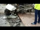 Лоб в лоб: внедорожник протаранил микроавтобус