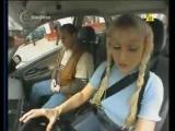 Блондинка-полячка за рулем)))