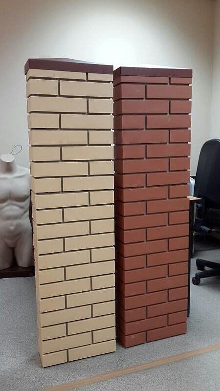Панели для имитации кирпичных столбов.