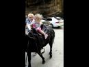 Чегемские водопады, доча катается на пони 😊☺