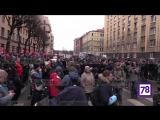 На несанкционированную акцию в Петербурге вышли 1,5 тысяч человек