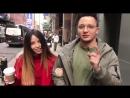 Надя Дорофеева на съёмках Maybelline, New York