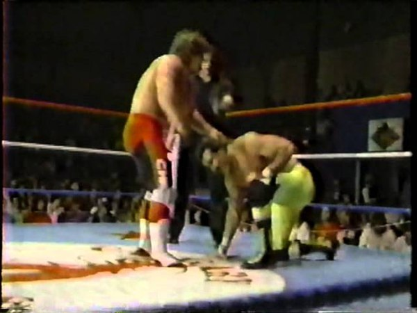Chris Benoit vs. Biff Wellington Stampede wrestling 1987