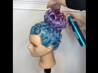 Оформление пучка плетением