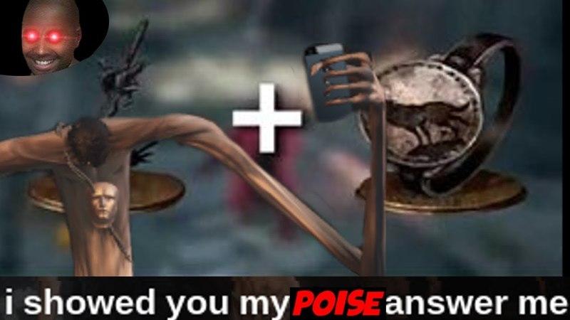 Poise in Dark Souls 3 lol (Ringed Knight Straight Sword)