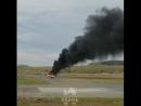 В аэропорту Перми вспыхнул истребитель